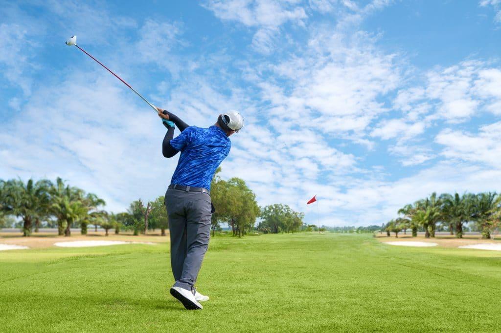 rancho San LucasMan Playing Golf by