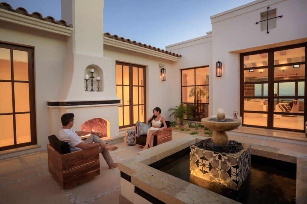 guests enjoying night at Rancho San Lucas Resort