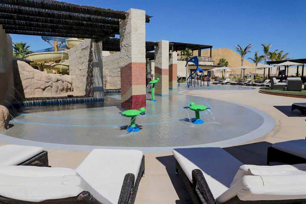 Kids love our lagoon-style pool! at Grand Solmar at Rancho San Lucas
